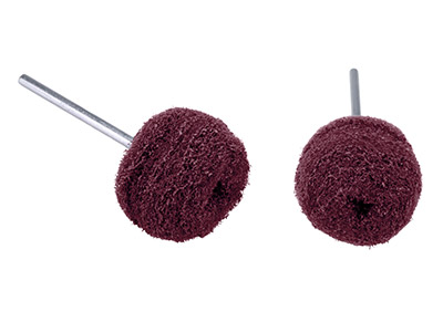 Abrasive Nylon Buffing Ball Red    Coarse 22mm