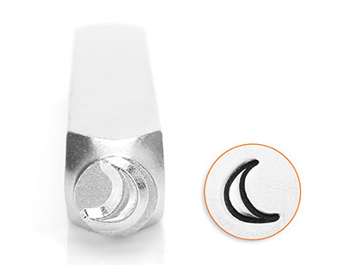 Impressart Crescent Moon Design    Stamp 6mm
