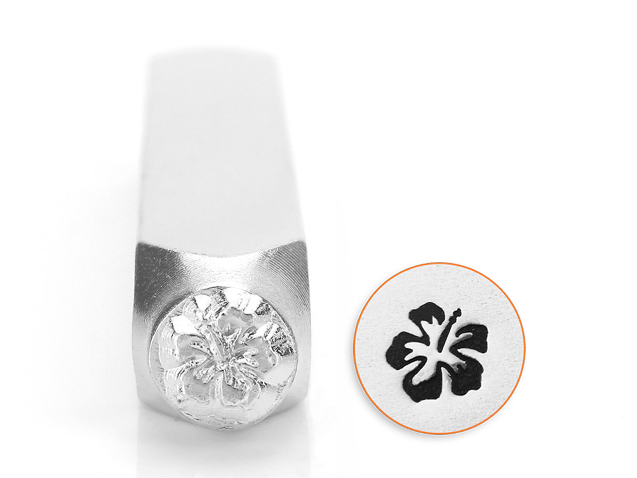 Impressart Hibiscus Flower Design  Stamp 6mm