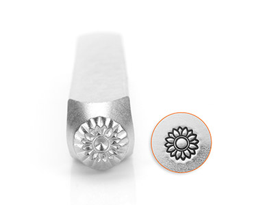 Impressart Sun Flower Design Stamp 6mm