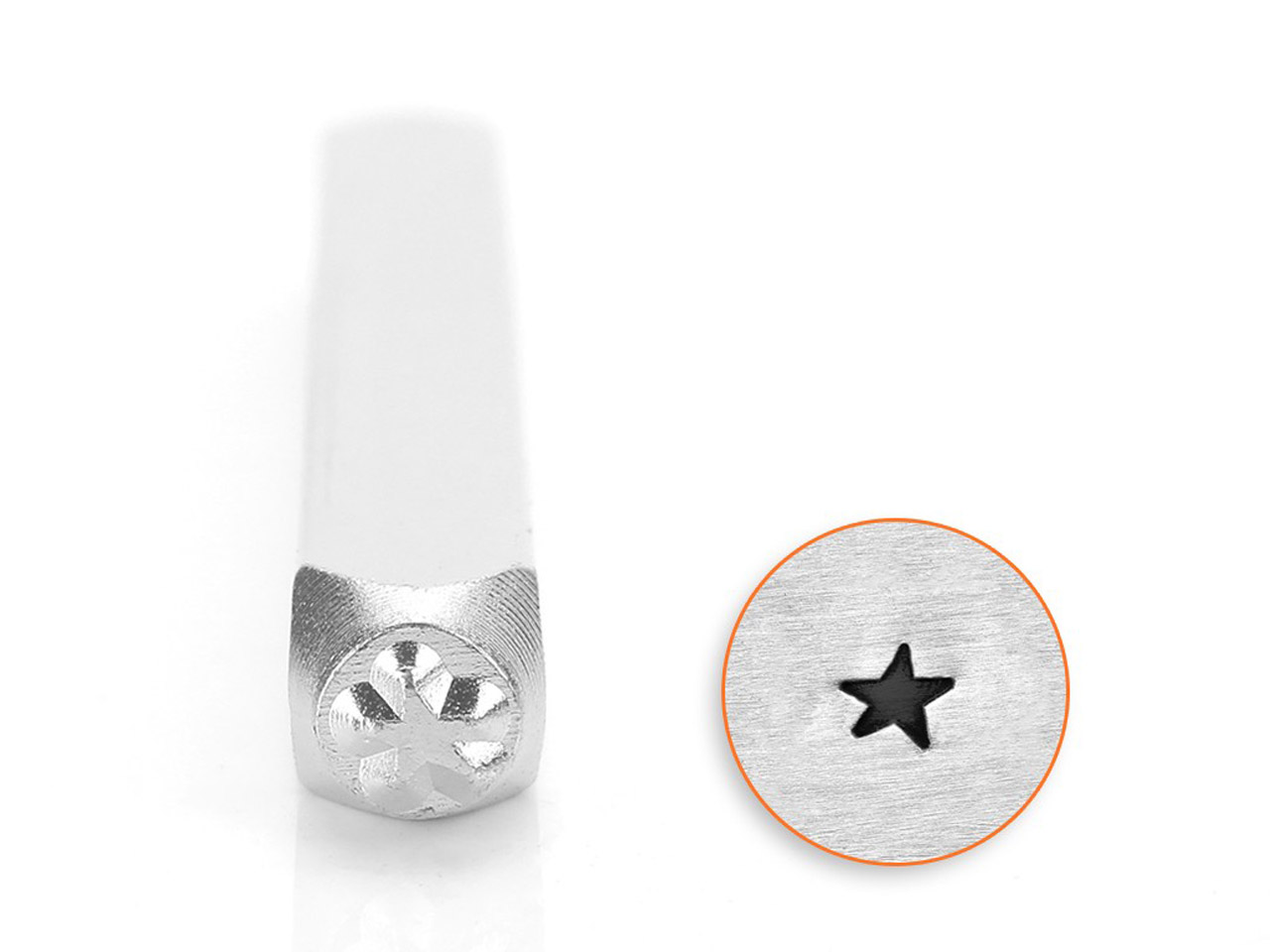 Impressart Angled Solid Star Design Stamp 3mm