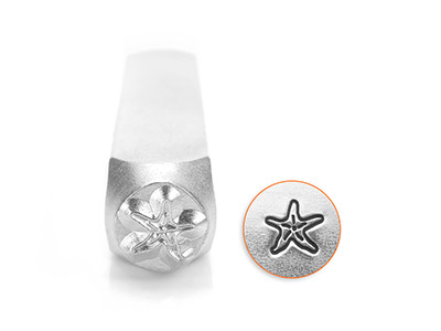 Impressart Starfish Design Stamp   6mm