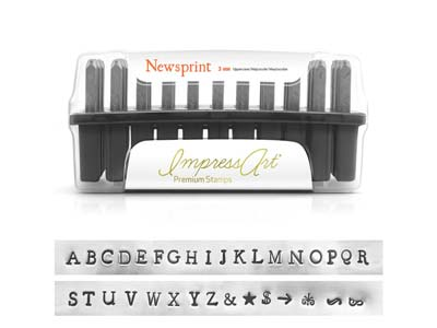 Impressart Newsprint Premium Letter Stamp Uppercase 3mm