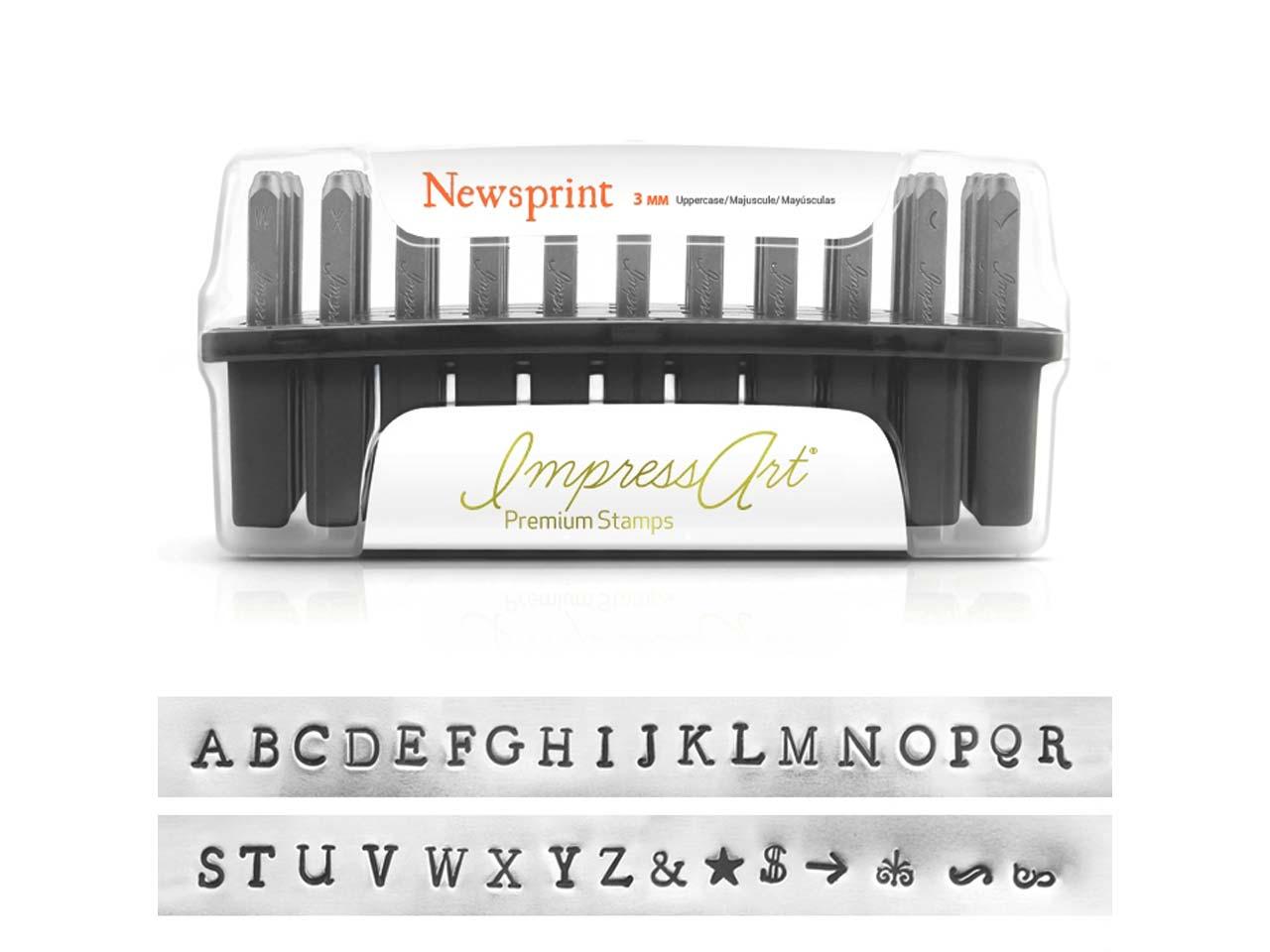 Impressart Premium Newsprint Numbers Metal Stamps Impressart Metal Stamps Buy One Give One