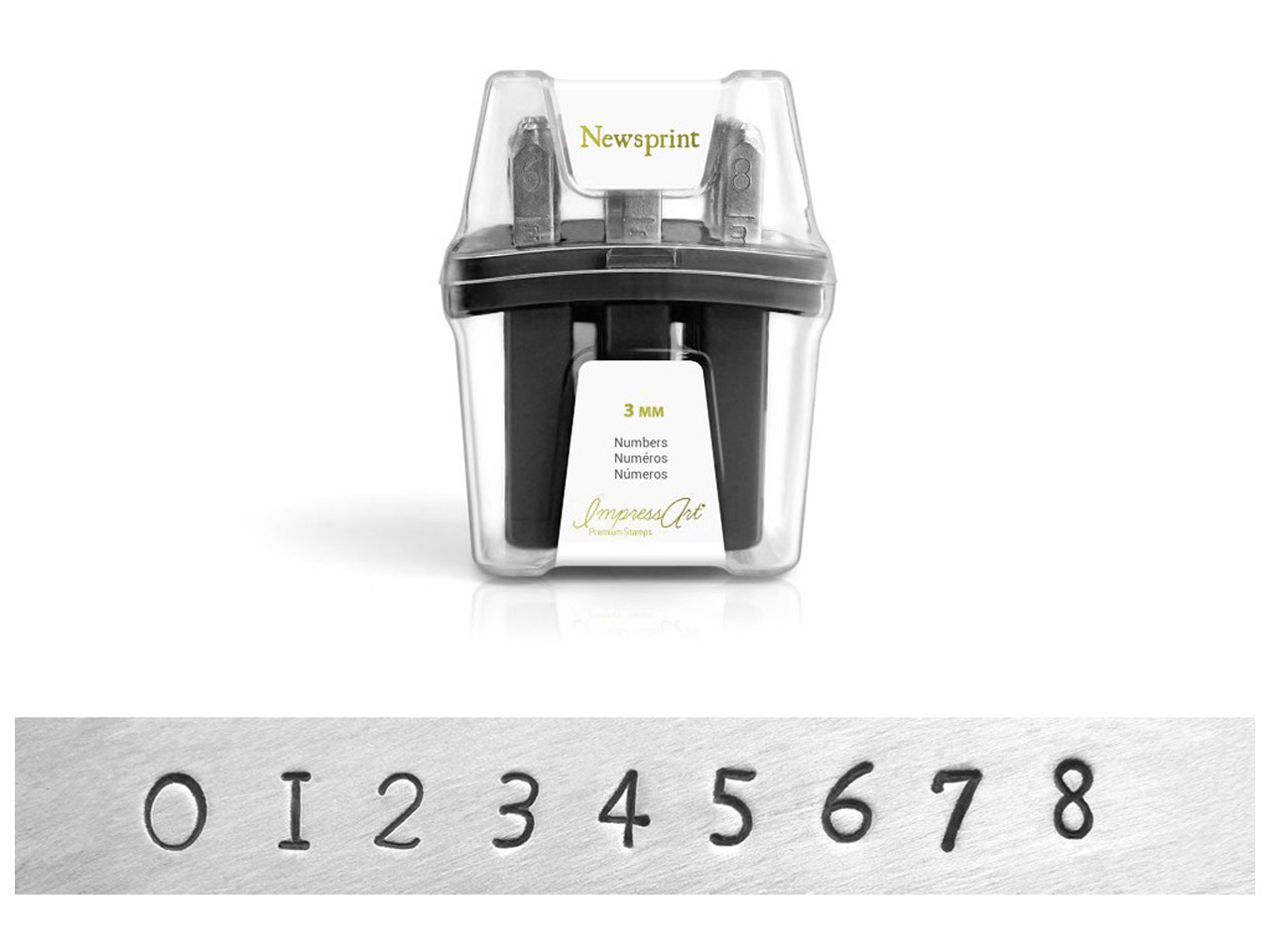Impressart Newsprint Premium Number Set 3mm