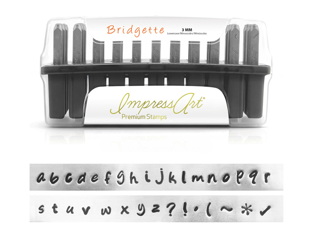 Impressart Bridgette Premium Letter Stamp Lowercase Letter Stamp Set    3mm