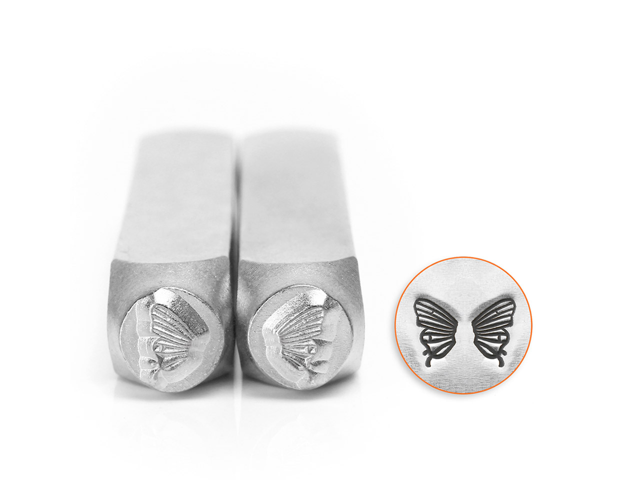 Impressart Butterfly Wings Design  Stamp Set 6mm Pack of 2