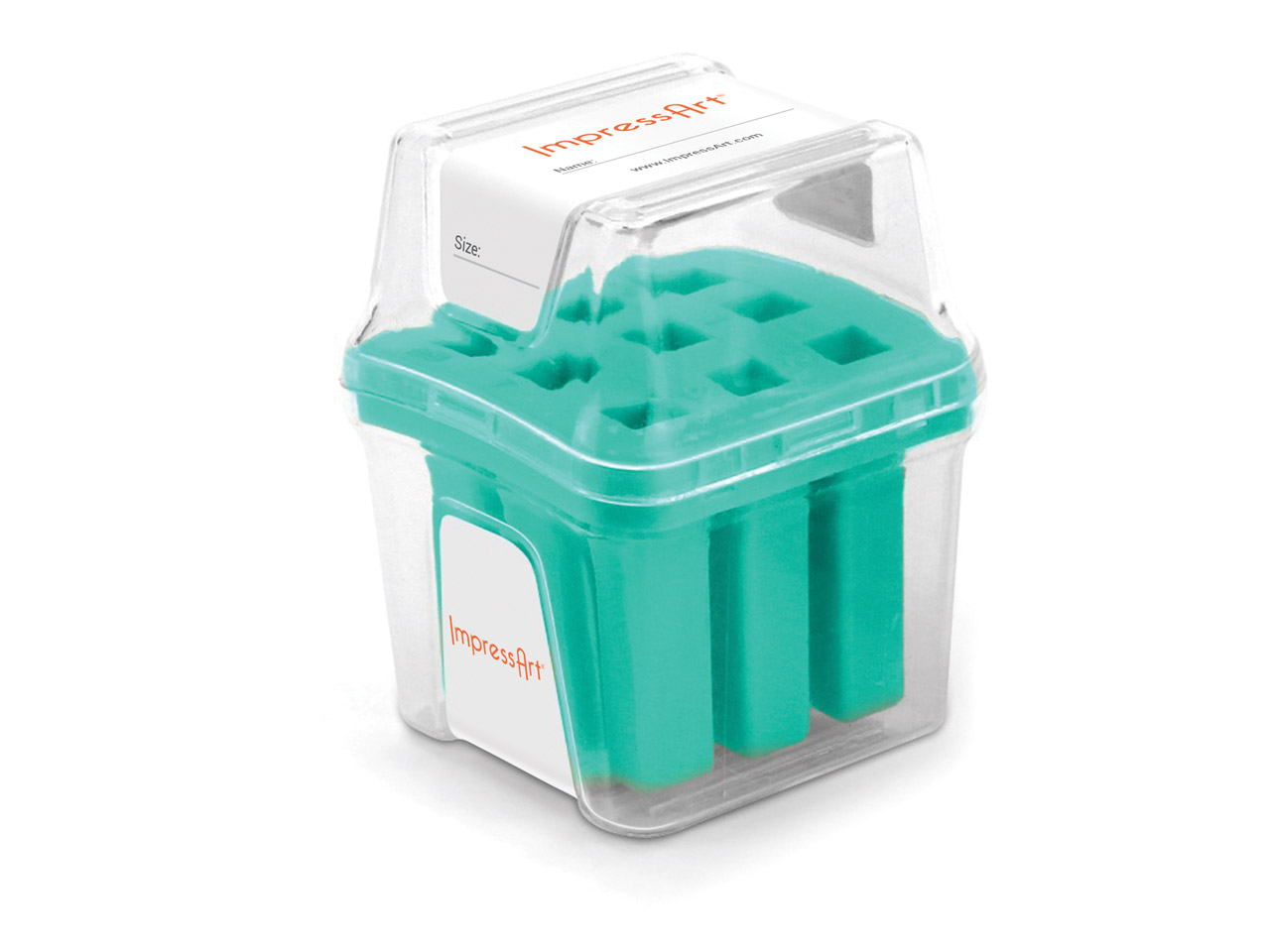 Impressart Number Stamp Storage    Case Teal 4mm