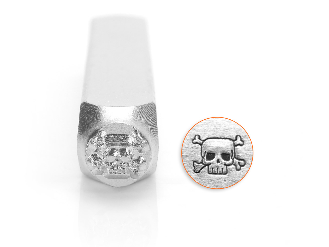 Impressart Skull And Crossbones    Design Stamp 6mm