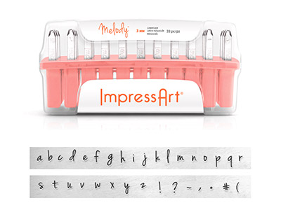 Impressart Melody Letter Stamp Set Lowercase 3mm