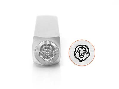 Impressart Lion Head Design Stamp  6mm