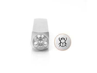 Impressart Scarab Beetle Design    Stamp 6mm