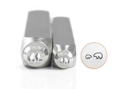 Impressart Mama And Baby Bear      Design Stamp 6mm And 4mm Pack of 2