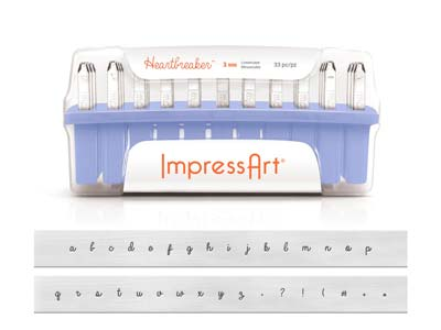 Impressart Heartbreaker Letter     Stamp Set Lowercase 3mm