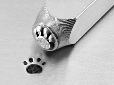 Impressart Paw Print Design Stamp  6mm