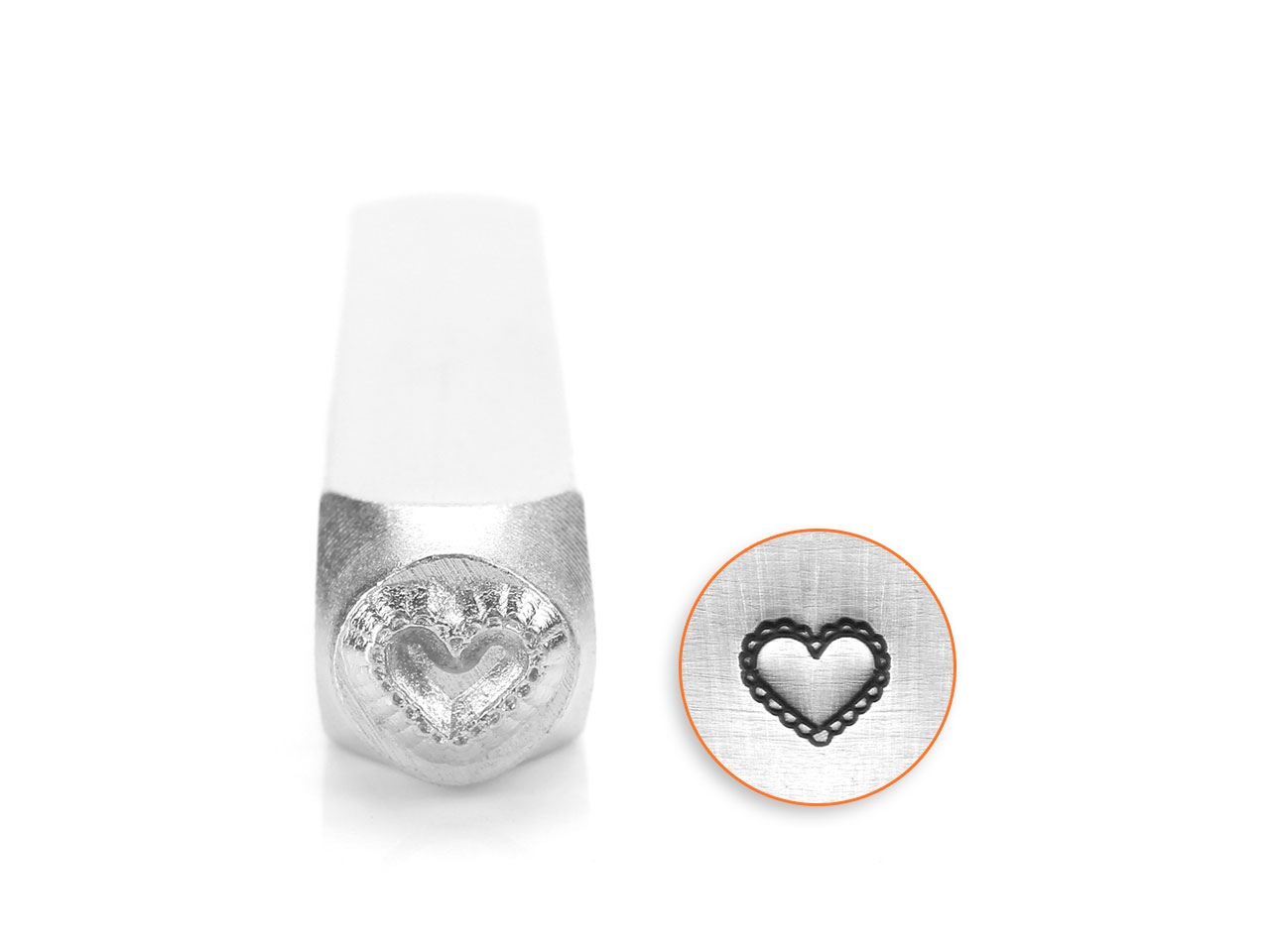 Impressart Lace Heart Design Stamp 6mm