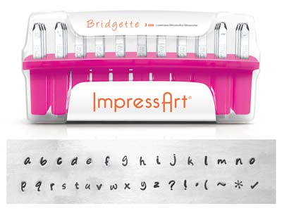 Impressart Bridgette Lowercase     Letter Stamp Set 3mm