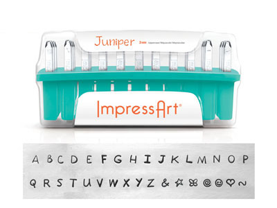 Impressart Juniper Uppercase Letter Stamp Set 3mm