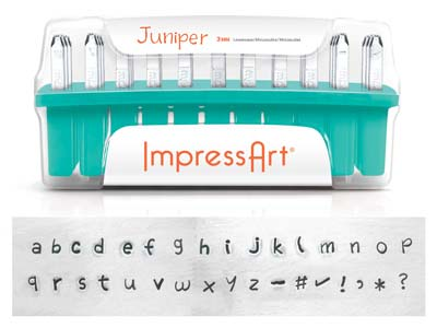 Impressart Juniper Lowercase Letter Stamp Set 3mm