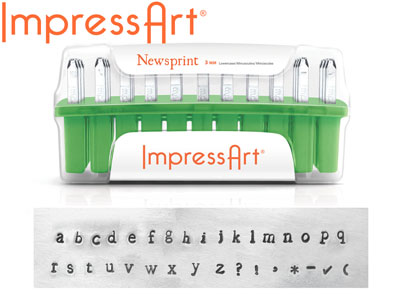 Impressart Newsprint Lowercase Letter Stamp Set 3m