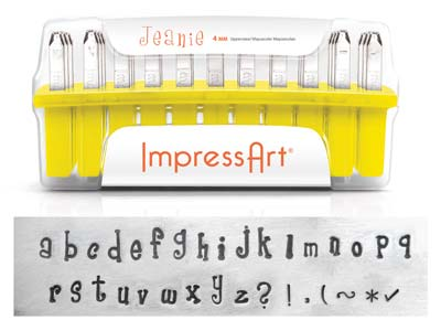 Impressart Jeanie Lowercase Letter Design Stamp Set 4mm