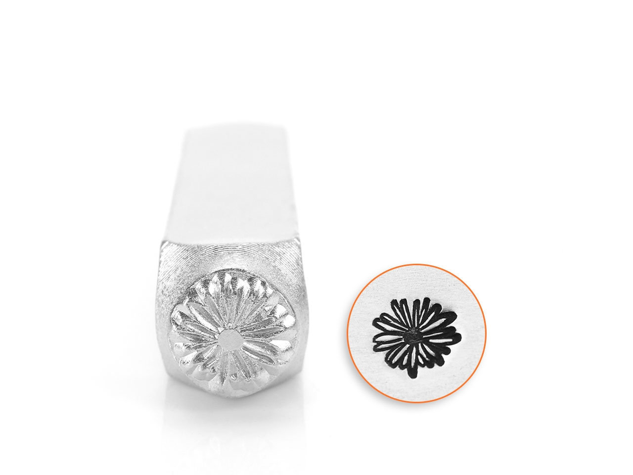 Impressart Daisy Flower Design     Stamp 6mm