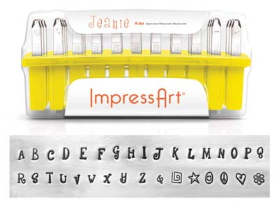 Impressart Jeanie Uppercase Letter Design Stamp Set 4mm