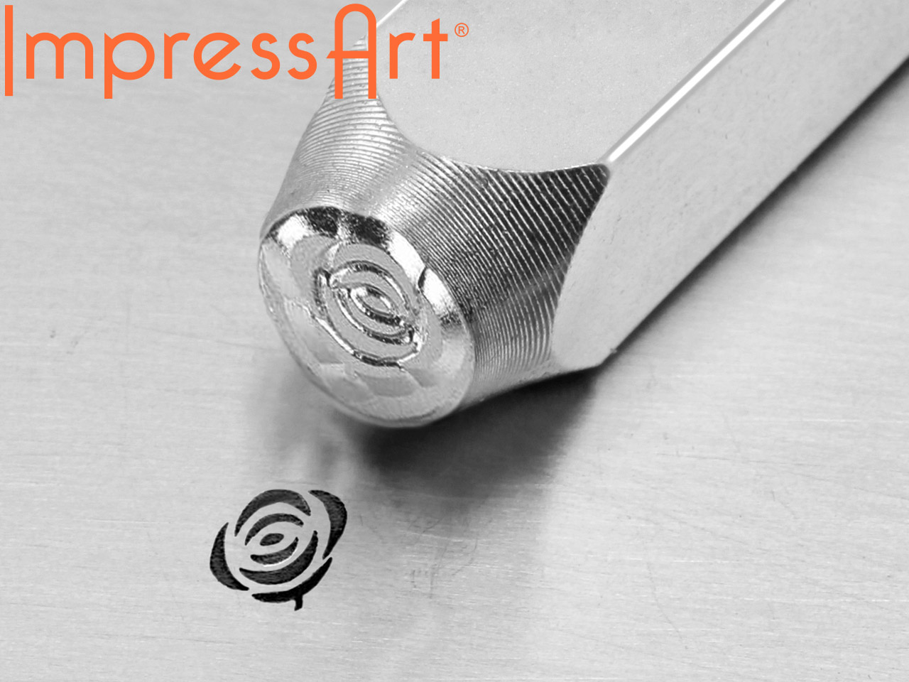 Impressart Rose Design Stamp 6mm