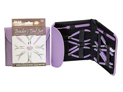 Beadsmith Beaders Tool Kit In     Orchid Fashion Clutch Bag