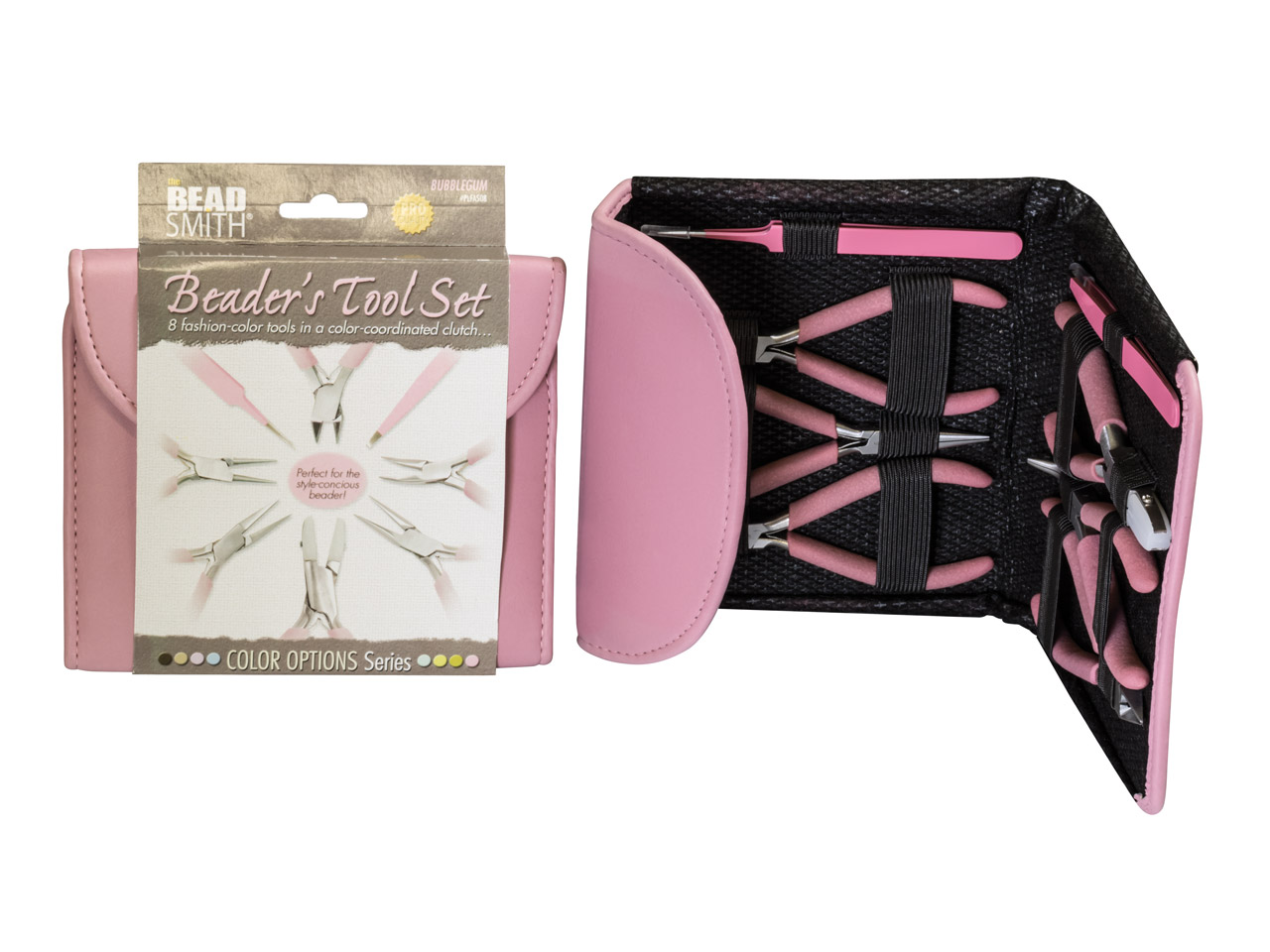 Beadsmith Beaders Tool Kit In      Bubblegum Pink Colour