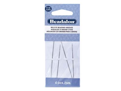 Beadalon Big Eye Beading Needles,  5.7cm2.25 4 Pcs