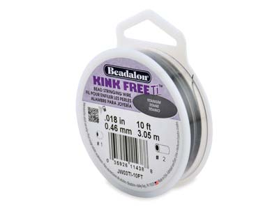 Beadalon Kink Free Titanium Bead   Stringing Wire 0.46mm, 3.05m Spool