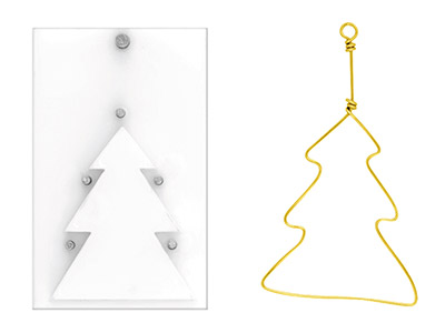 Artistic Wire Findings Forms Christmas Tree Jig