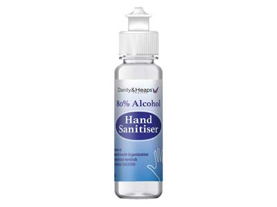 80 Alcohol Antibacterial Hand     Sanitiser 100ml Bottle