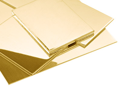 18ct Yellow HB Sheet 0.55mm, 100  Recycled Gold