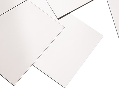 18ct Medium White Sheet 0.50mm,    100 Recycled Gold