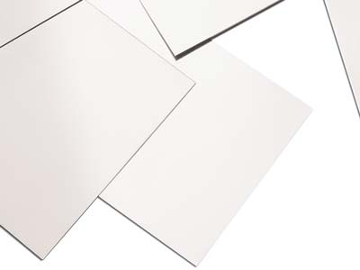 18ct Medium White Sheet 1.30mm,    100 Recycled Gold