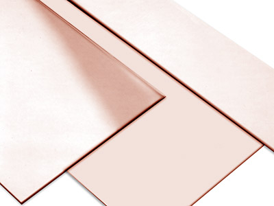 18ct Red Gold 5n Sheet 1.00mm, 100 Recycled Gold