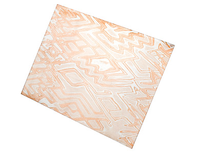 Mokume Gane Sheet Jazz Pattern, 0.5mm Thick, Cut To Order, Smallest Size Available 10mm X 10mm