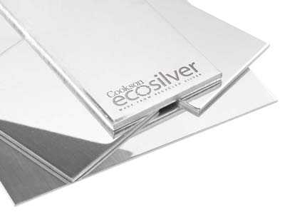 Ecosilver Sheet 2.00mm, 100       Recycled Sterling Silver