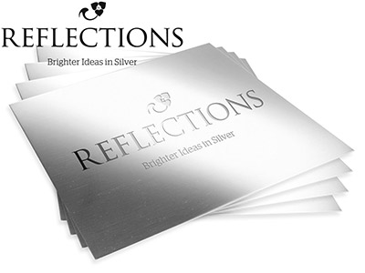 Reflections Silver 0.3mm Sheet