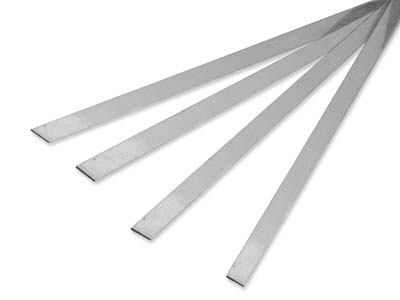 Ecosilver Hard Solder Strip, 0.60mm X 6.0mm X 600mm, Weight Per Strip   22g