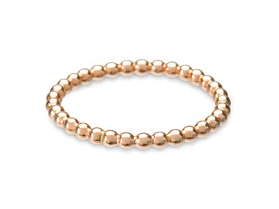 Rose Gold Filled Beaded Ring 2mm   Size Q