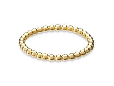 Gold Filled Beaded Ring 2mm Size M