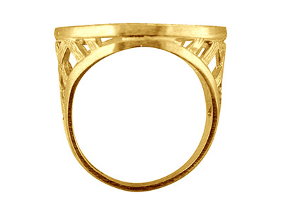 9ct Yellow Half Sovereign Ring 4 Claw Bezel