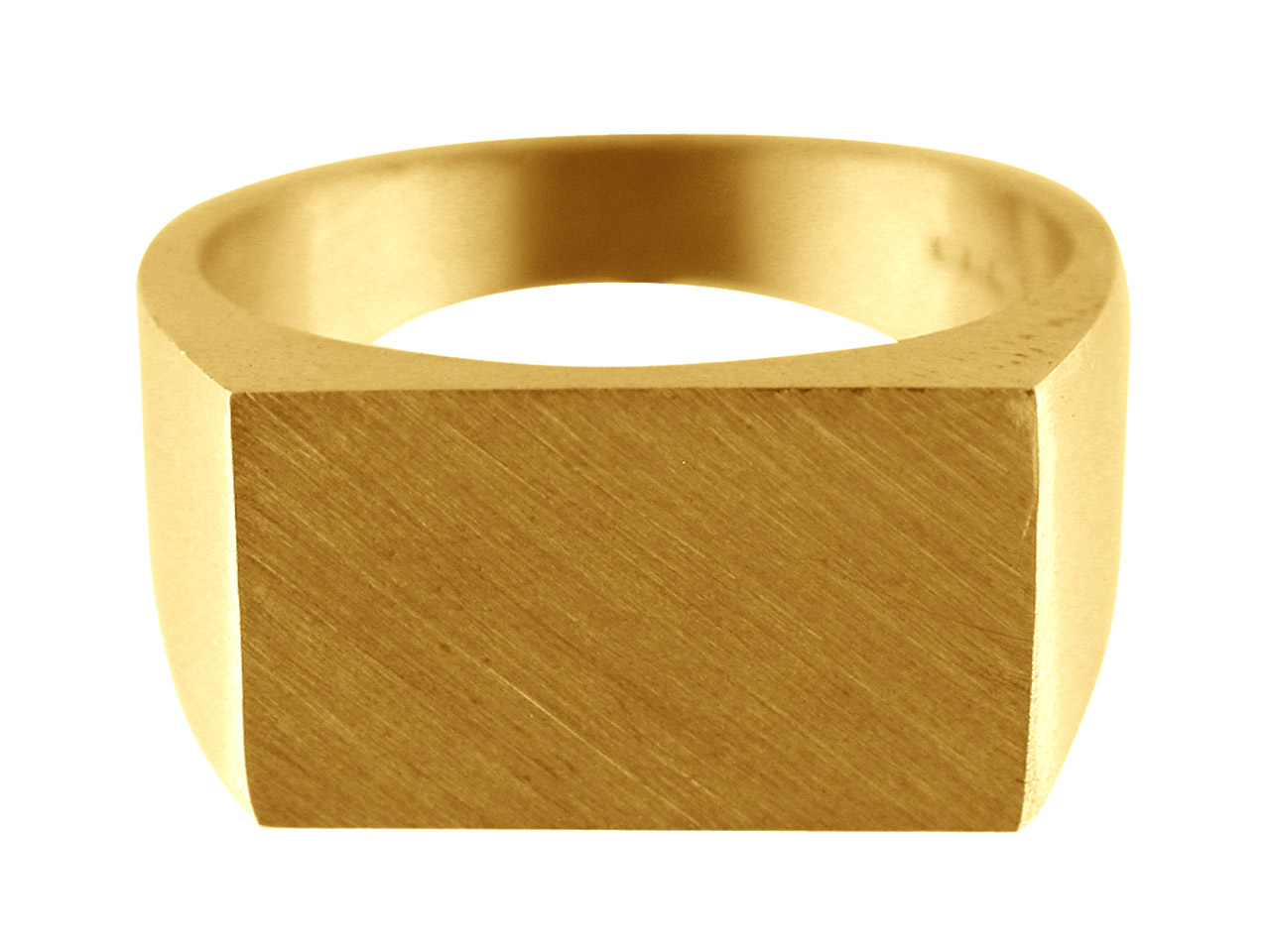 9ct Yellow Gold G8 Initial Ring     Rectangular 17x12mm Hallmarked Head Depth 2.9mm Size S
