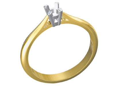 9ct Yellow Gold Light Ss2 Tapered  Ring Shank With Cheniers Size M