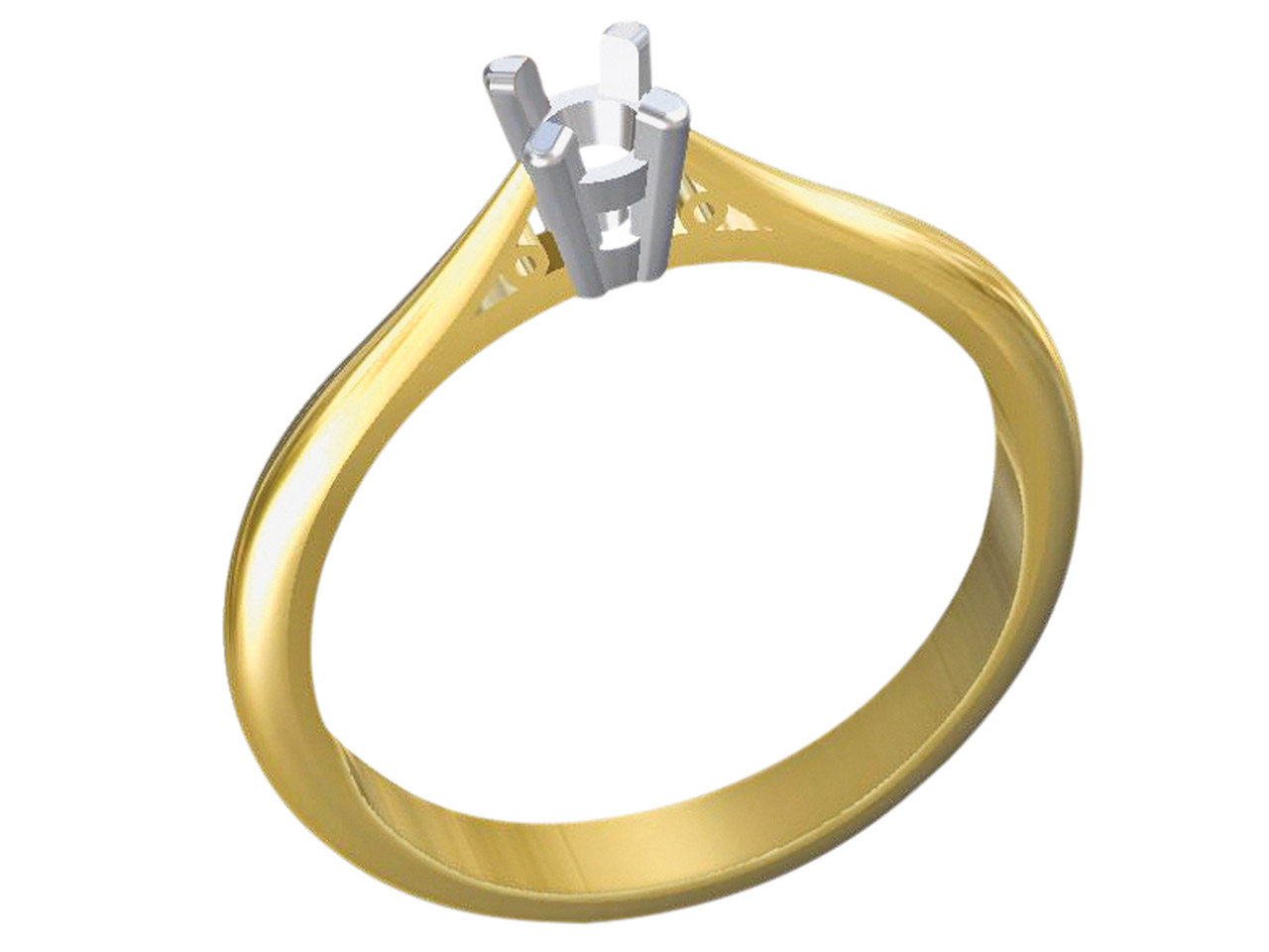 9ct Yellow Gold Heavy Ss2 Tapered  Ring Shank With Cheniers Size M