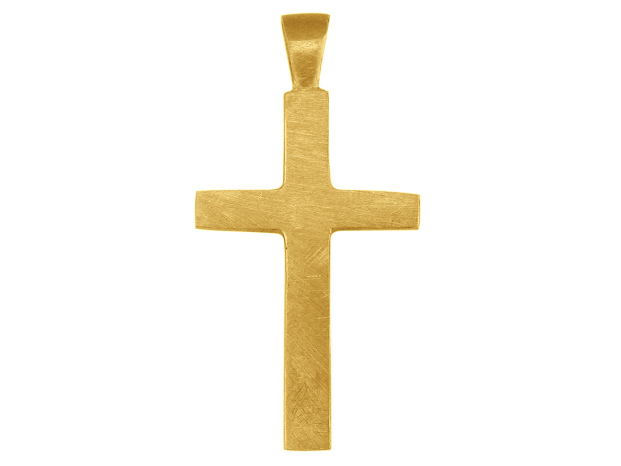 9ct Yellow X3017 Plain Cross       25x15mm Hallmarked 2.5mm Thick     3.0mm Wide