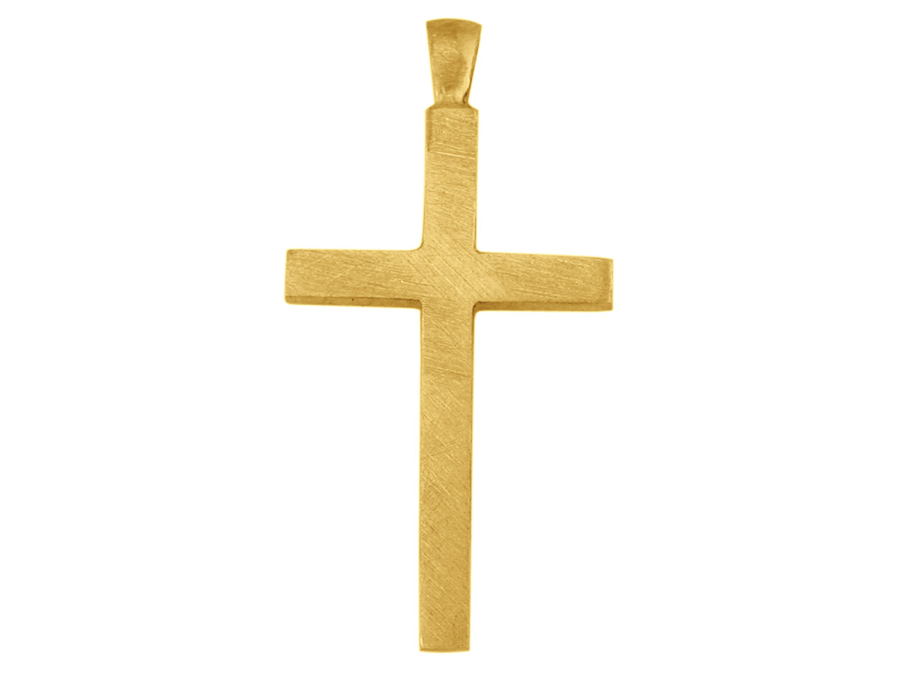 9ct Yellow X3019 Plain Cross       25x15mm Hallmarked 2.7mm Thick     2.3mm Wide